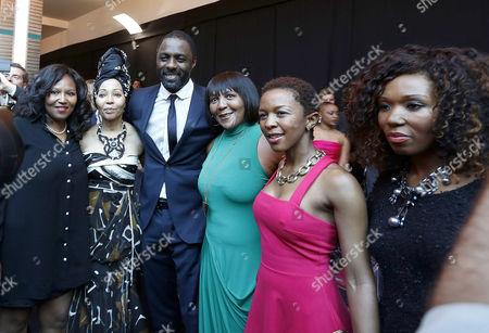 Swati Dlamini, Bridgette Motsepe Radebe, Idris Elba, Ndileka Mandela, Zama Ngcobo and Zaziwe Dlamini-Manaway
