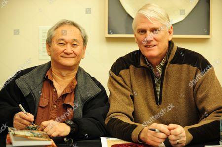 Stan Sakai, creator of Usagi Yojimbo and Mike Richardson, founder and president of Portland-based Dark Horse Comics
