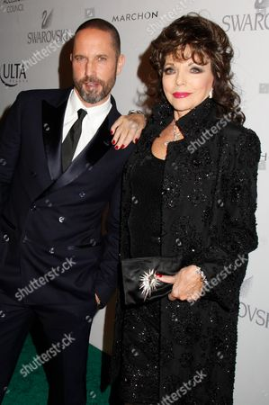 Alexis Bittar and Joan Collins