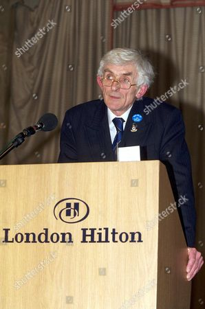 Editorial photo of DR. JIM SWIRE, SPOKESMAN FOR THE UK FAMILIES- FLIGHT PAN AM 103  LOCKERBIE AIRCRASH GROUP GIVES PRESS CONFERENCE AT THE HILTON HOTEL IN LONDON. BRITAIN  01/02/01