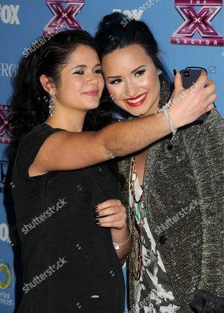 Stock Photo of Khaya Cohen, Demi Lovato