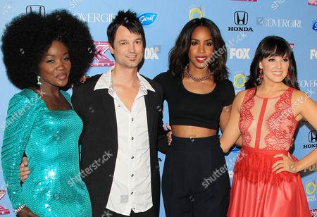 Kelly Rowland, Jeff Gutt, Lillie McCloud, Rachel Potter