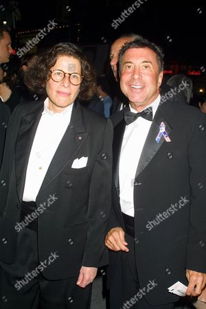 """Fran Liebowitz and Sandy Gallin at the opening night performance of Henrik Ibsen's """"Hedda Gabler"""" on Broadway at the Ambassador Theatre in New York City"""