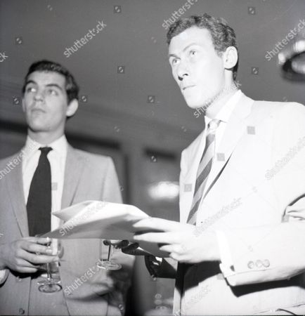 The Filming Of 'look Back In Anger'. Playright John Osborne With Gary Raymond.
