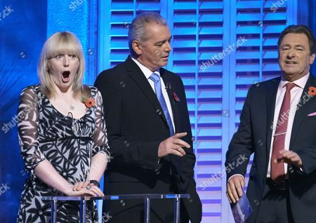 Yvette Fielding and Karl Beattie with Alan Titchmarsh