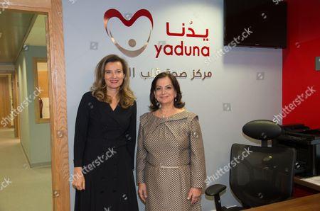 Valerie Trierweiler and Wafa Sleiman in Beirut