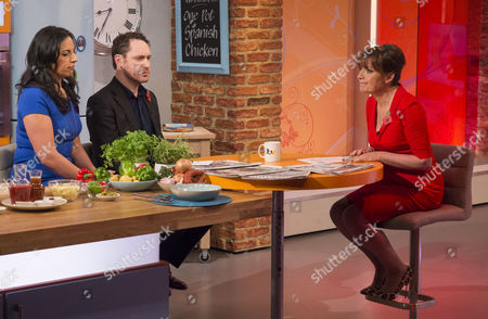 Aasmah Mir and Hugo Rifkind with Lorraine Kelly