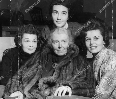 Stock Photo of Television Programmes: Whiteoak Heritage (rehearsals). Jean Cadell (seated) With L-r: Joyce Heron Petra Davies And Eunice Gayson.