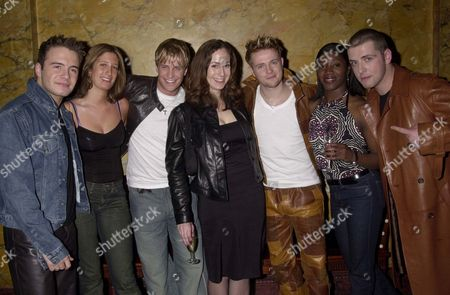 WESTLIFE WITH JESSICA CALLAN EVA SIMPSON AND POLLY GRAHAM