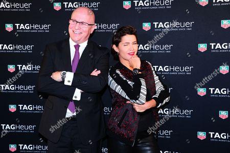 TAG Heuer CEO Stephane Linder and Emma de Caunes