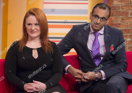 Stock Photo of Angela Chouaib and Nilesh Sojitra