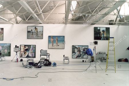 """Editorial picture of """"I AM A CAMERA"""" EXHIBITION AT THE SAATCHI GALLERY. FEATURING PICS OF NAKED SCHILDREN BY TIERNEY GEARON"""