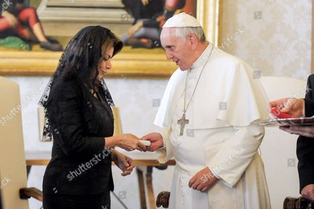 Laura Chinchilla and Pope Francis I