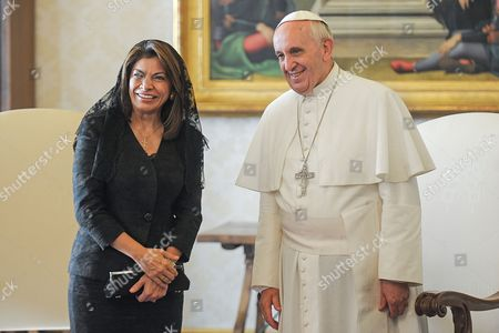 Editorial picture of Pope Francis I meets Costa Rica's President Laura Chinchilla, Vatican City State, Italy - 08 Nov 2013