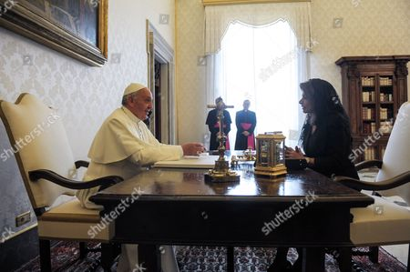 Pope Francis I and Laura Chinchilla