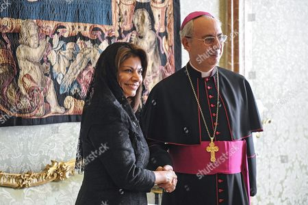 Editorial image of Pope Francis I meets Costa Rica's President Laura Chinchilla, Vatican City State, Italy - 08 Nov 2013