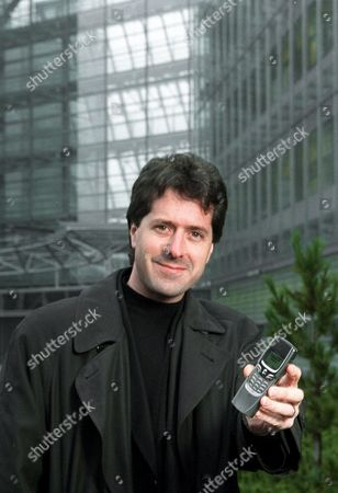 Editorial picture of Nokia's chief designer Frank Nuovo in front of the Nokia headquarters in Espoo, Helsinki, Finland - January 10 Jan, 2001