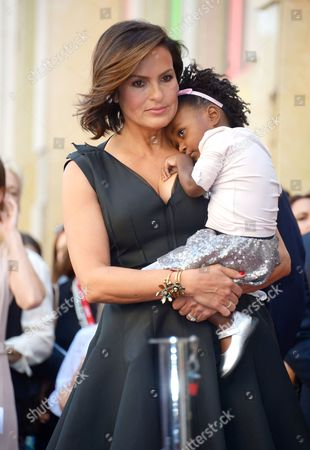 Mariska Hargitay with daughter Amaya Josephine Hargitay Hermann