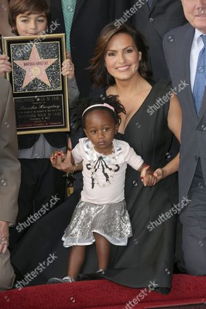 Stock Photo of Mariska Hargitay with daughter Amaya Josephine Hargitay Hermann