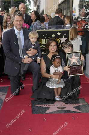 Mariska Hargitay with Peter Hermann and children August Miklos Friedrich Hermann, Amaya Josephine Hargitay Hermann, Andrew Nicolas Hargitay Hermann