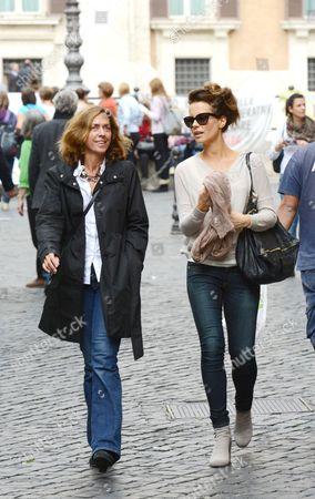 Stock Photo of Kate Beckinsale with Journalist Barbie Latza
