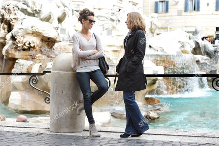 Stock Picture of Kate Beckinsale with Journalist Barbie Latza