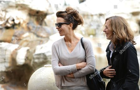 Stock Image of Kate Beckinsale with Journalist Barbie Latza