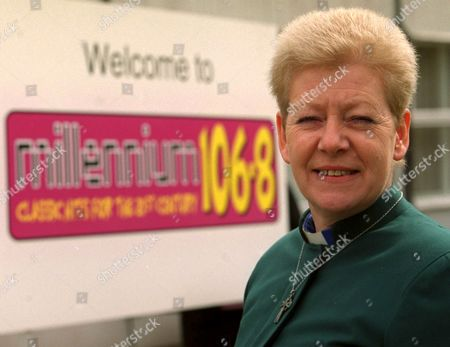 Stock Photo of REVEREND WENDY SAUNDERS WHO HAS JUST BEEN APPOINTED A DIRECTOR AT THE STATION WHERE SHE HAS BEEN BROADCASTING FOR OVER 10 YEARS