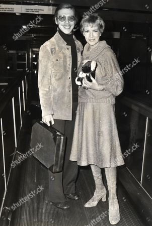 Yootha Joyce And Brian Murphy At Heathrow Leaving Britain To Tour New Zealand With The Stage Show Version Of Their Popular Television Series 'george And Mildred'. Original Held At Kensington.