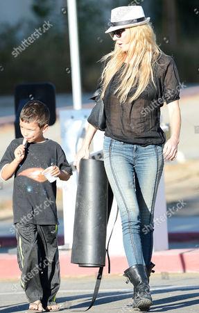 Brandi Glanville and son Jake Cibrian