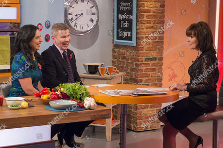 Aasmah Mir and Andrew Pierce with Lorraine Kelly
