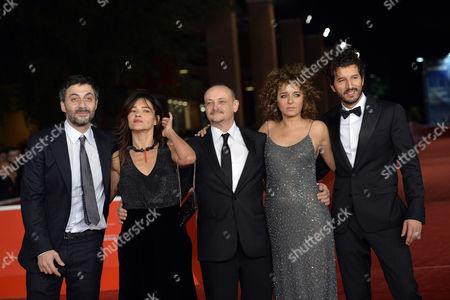 Filippo Timi, Chiara Caselli, Marco Simon Puccioni, Valeria Golino and Francesco Scianna