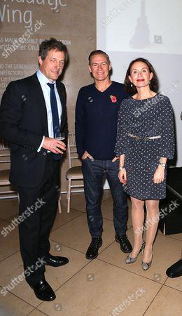Stock Image of Hugh Grant, Bryan Adams and Caroline Froggatt