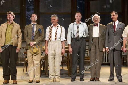 Stock Photo of Miles Richardson (Juror 10), Nick Moran (Juror 7), Martin Shaw (Juror 8), Jeff Fahey (Juror 3), Robert Vaughn (Juror 9) and Paul Antony-Barber (Juror 4)