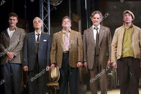 Edward Franklin (Juror 5), David Calvitto (Juror 2), Luke Shaw (Foreman), Martin Turner (Juror 11) and Miles Richardson (Juror 10)