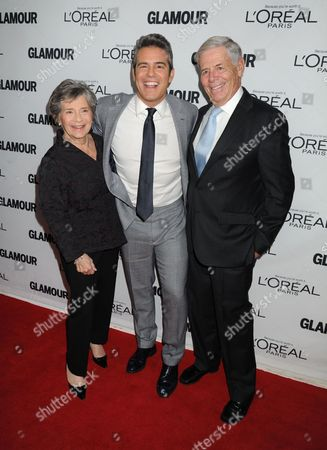 Stock Picture of Evelyn Cohen, Andy Cohen, Lou Cohen