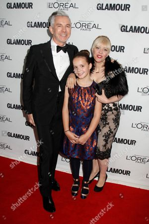 Stock Picture of Baz Luhrmann, Catherine Martin and daughter Lillian Amanda Luhrmann