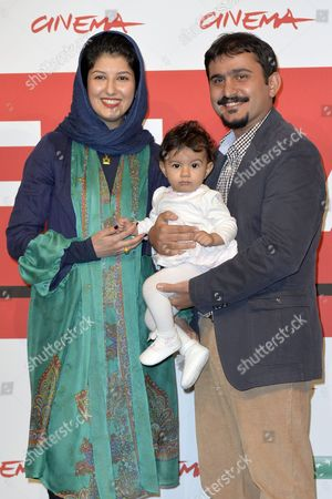 Kiarash Asadizadeh, wife Noele and daughter Telma