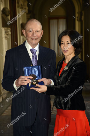 Wilbur Smith and wife Mokhiniso Rakhimova