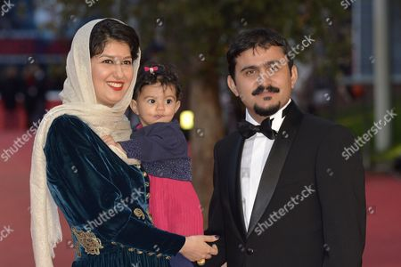 Kiarash Asadizadeh with wife Noele and his daughter Telma