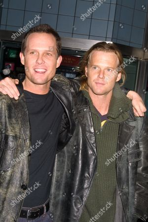 "Dean Winters and brother Scott William Winters at the film premiere of Project Greenlight's ""Stolen Summer"" at Chelsea West Cinemas in New York City"
