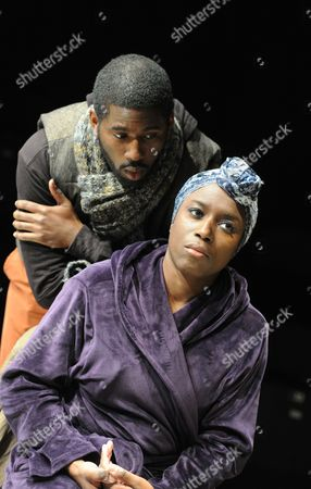 Stock Photo of Gershwyn Eustache Jnr as Ex Husband, Sharlene White as Ex Wife