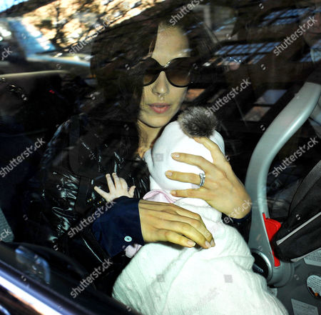 Stock Picture of Hilaria Baldwin and her baby daughter Carmen Gabriela