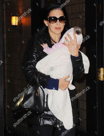 Hilaria Baldwin and her baby daughter Carmen Gabriela