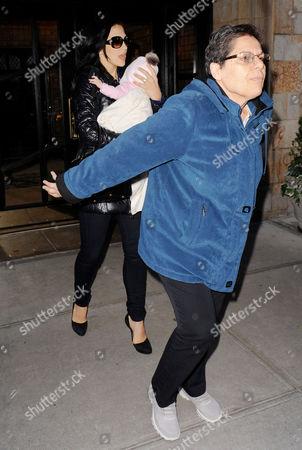 Editorial photo of Hilaria Baldwin and her baby daughter Carmen Gabriela leaving her house in Manhattan, New York, America - 13 Nov 2013