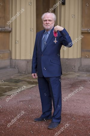Stock Image of The Honourable Michael Attenborough, Theatre Director and Producer after receiving his CBE for services to the Theatre