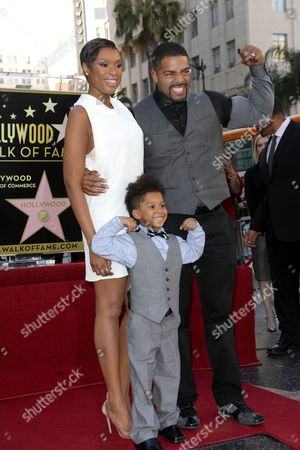 Jennifer Hudson with David Otunga and son David Daniel Otunga Jr.
