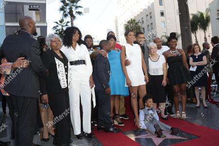 Jennifer Hudson and family - sister Julia King with David Otunga and son David Daniel Otunga Jr.