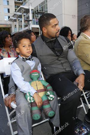 David Otunga and son David Daniel Otunga Jr.