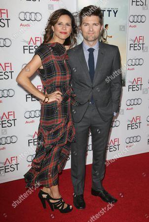 Stock Photo of Adam Scott and Naomi Sablan